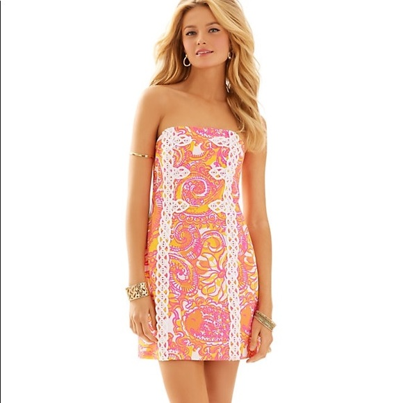Lilly Pulitzer Dresses & Skirts - 🎉HP🎉 Lilly Pulitzer Tansy Strapless Dress